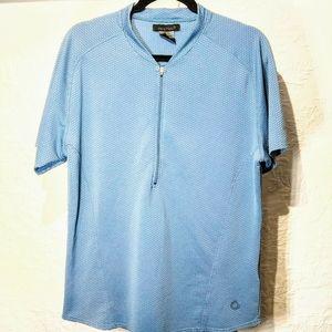 Nike Sphere Large Blue Zippered Athletic Shirt